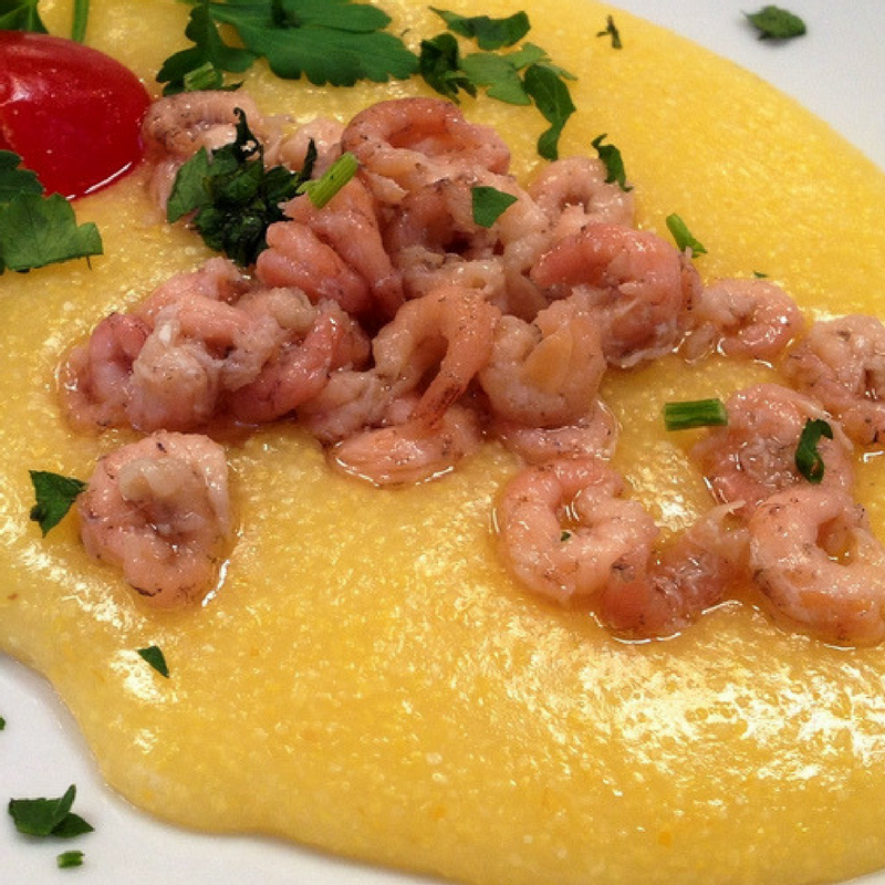 Schie (prawns) with polenta