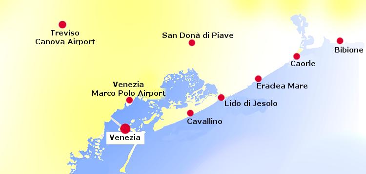 Cartina Lido Di Venezia.Le Spiagge Veneziaunica City Pass